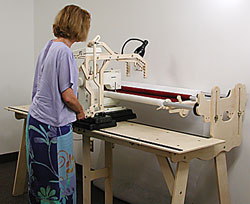 the grace machine quilter comes complete with three rails ends and the table tops a total package that only requires your sewing machine and creativity
