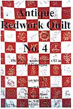 antique redwork quilt - book 4