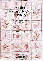 antique redwork quilt - book 5