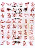 antique redwork quilt - book 6